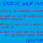 Fitnes Meme - Exercising When You're Sick