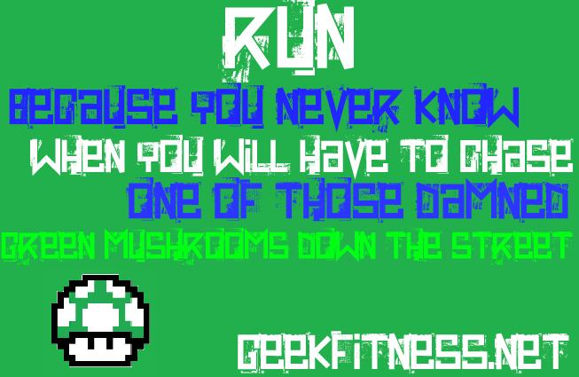 Green Mushroom Fitness Meme