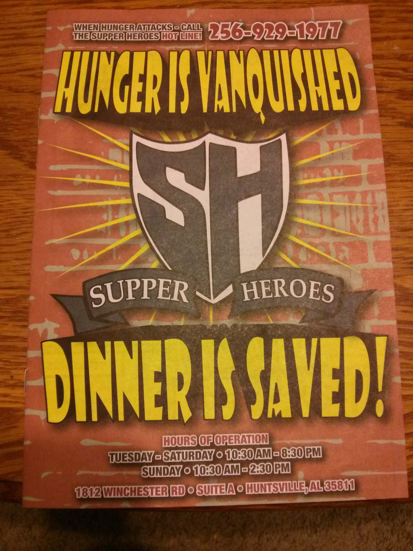 Supper Heroes Huntsville Menu 1