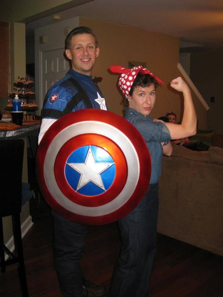 B.J. as Captain America