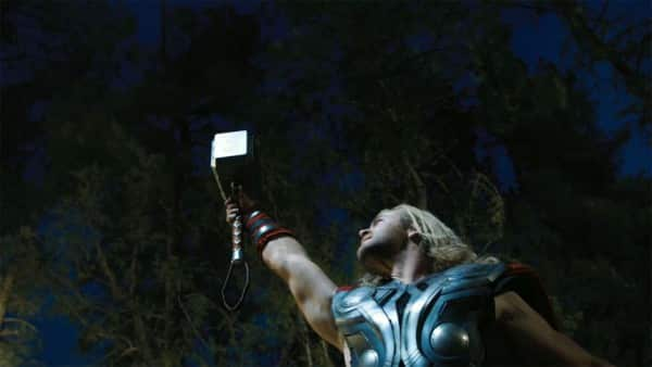 Thor with Hammer Raised