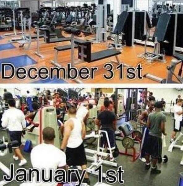 New Year's Gym Meme