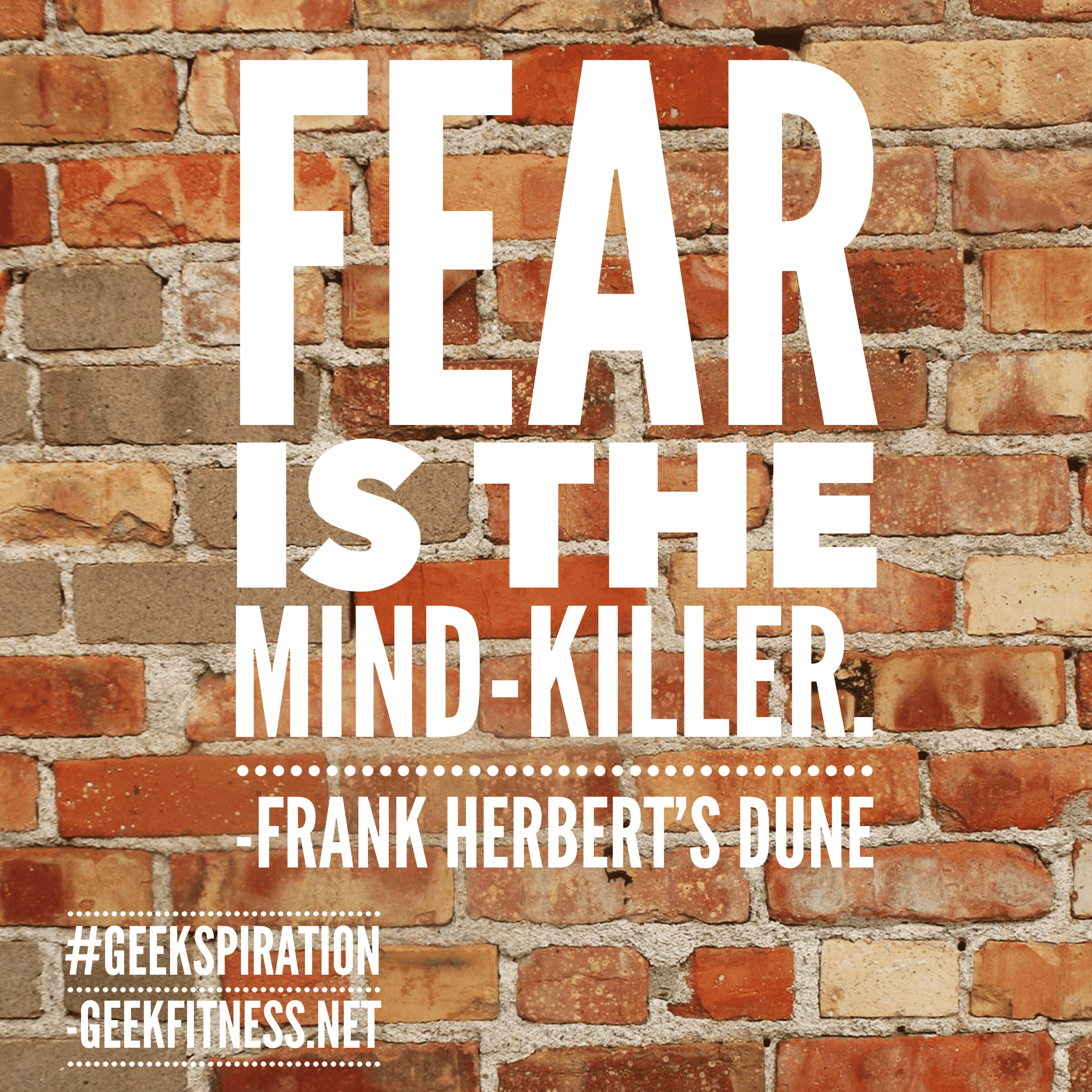 Fear is the Mind Killer Geekspiration